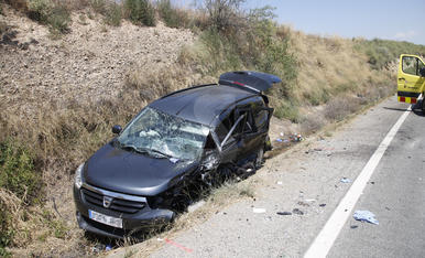 Espectacular accident a la carretera C-12
