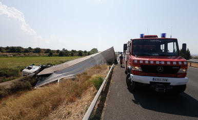 Espectacular accident a l'autovia A-2