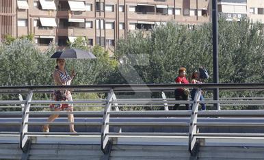 © Un sol inclemente quema Lleida
