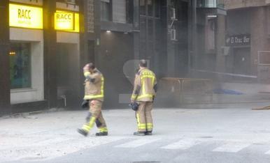 Incendio en un parking de la avenida del Segre de Lleida