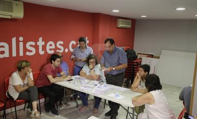 Imágenes de las primarias del PSC en Lleida