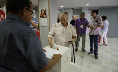 Imatges de les primàries dels PSC de Lleida