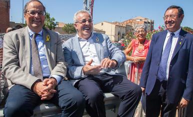 El president Quim Torra, a les Borges Blanques