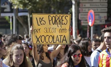 Imágenes del aniversario del 1-O en Lleida
