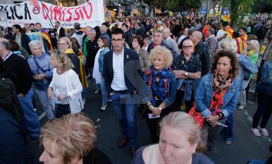 Manifestació de l'aniversari de l'1-O a Lleida