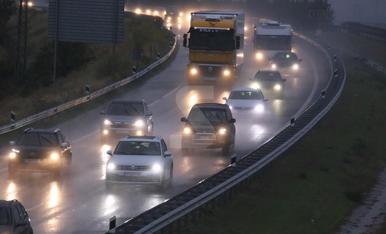 Imatges del temporal de pluja a les comarques de Lleida