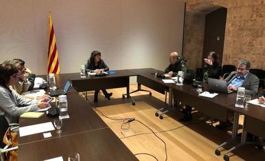 Un moment de la reunió de la Comissió Interdepartamental celebrada ahir a Barcelona.