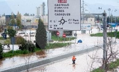 © Estragos por la lluvia en Girona