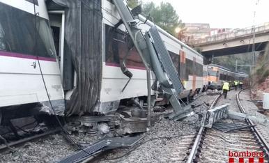 Descarrila un tren de Rodalies a Vacarisses