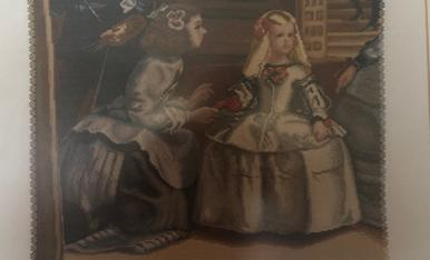 Parcial de Las Meninas de Velázquez. Punt de creu.