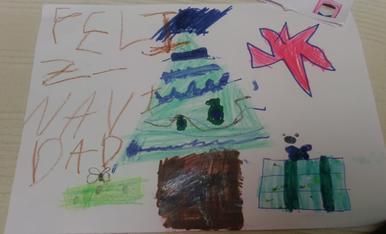 Arbre de Nadal... Fet per la Naroa de 7 anys