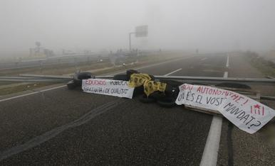 IMATGES. Protestes a Lleida el 21-D