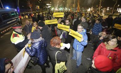 © Protesta en Lleida por la detención de independentistas