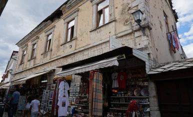 Mostar. Encara ara és visible els efectes de la guerra dels Balcans. Setembre 2018