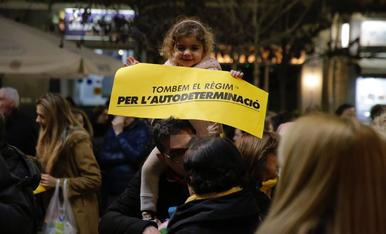 IMÁGENES. Protestas y concentraciones contra el juicio del 'procés'