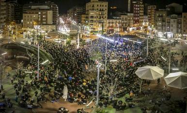 IMATGES. Protestes i concentracions contra el judici del 'procés'