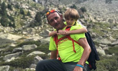 El Marc i el seu pare el Jordi, disfrutant de la naturalesa
