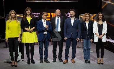 © Debate a seis entre los candidatos de Catalunya