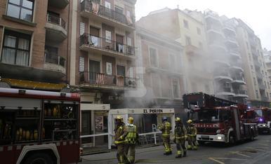 © Incendi en un restaurant de Lleida