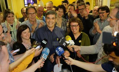 ERC celebra la victòria a les Generals a Lleida
