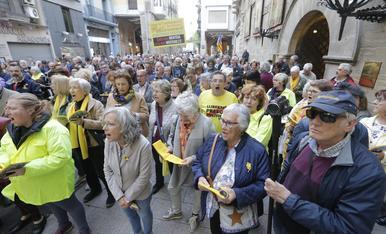 © Indignación en Lleida por el veto a Puigdemont