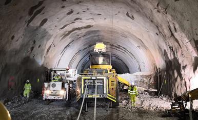 © Excavados ya 500 metros del túnel de Tres Ponts