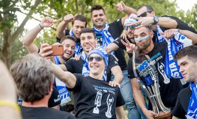 Rua de celebració del Lleida Llista