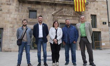 Imatge del carrer Sió d'Agramunt, al centre d'aquesta localitat de l'Urgell.