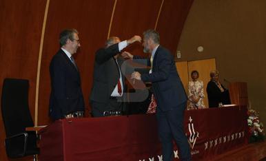 Acte de presa de possessió de Jaume Puy com a nou rector de la UdL
