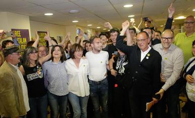 Eufòria a la seu d'ERC de Lleida