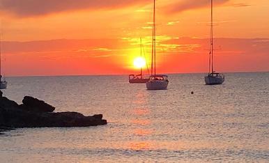 Posta de sol  a Formentera.Uns dies de relaxació increïbles