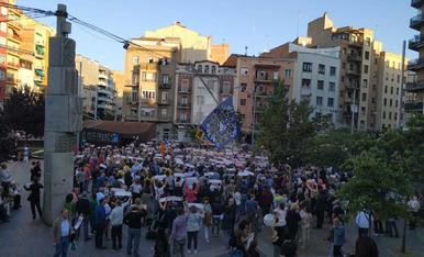 Concentració a Lleida en el final del judici al Suprem