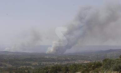 Imatges de l'incendi de la Ribera d'Ebre