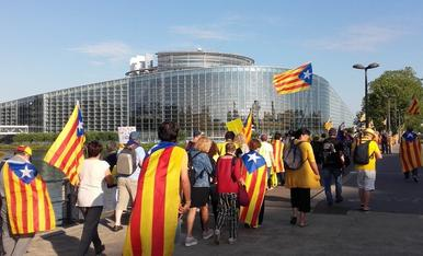 Manifestación independentista en Estrasburgo