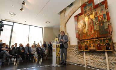 Tatxo Benet compra i cedeix un retaule gòtic de finals del segle XV