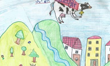 L'arnau te 8 anys, l'adreça es c/ Metall 23 d'Alcarràs i el telèfon dels pares es 679958202. Els tracta d'una super vaca que va volant cap al Super Esbaiolat.