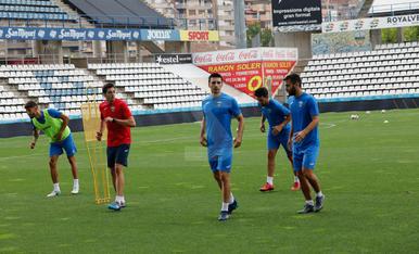 Primer entrenament del Lleida Esportiu de Molo
