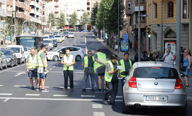 Imatge de la vaga de xòfers d'Alsina Graells a Lleida