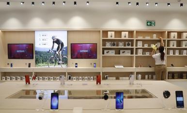 Una botiga de Huawei a Madrid.