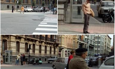 """Passejant pels carrers de Bilbao, vam retrocedir 50 anys en el temps, pel rodatge de la futura sèrie televisiva """"la línea invisible"""""""