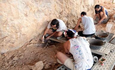 Els treballs a la Roca dels Bous.