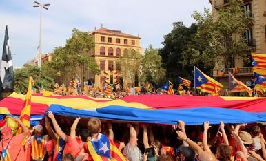 Una imagen de la manifestación de la Diada en Barcelona del año pasado.