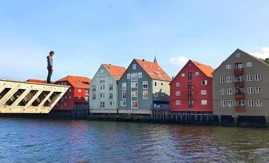 Vistes des del mirador del riu Nidelva, Trondheim.