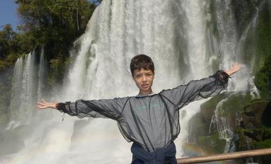 A les Catarates d'Iguazú.