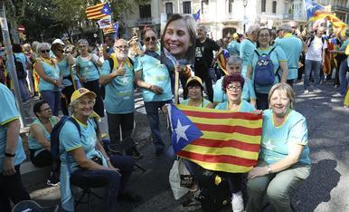 La manifestació a Barcelona