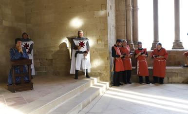 Representación de la boda entre Peronella de Aragón y Ramon Berenguer IV