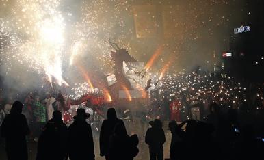 © Gran noche del fuego en Lleida
