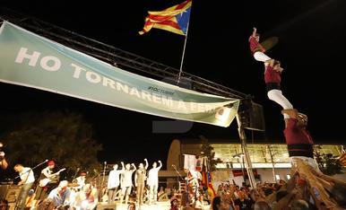 Manifestación en Lleida por el segundo aniversario del 1-O