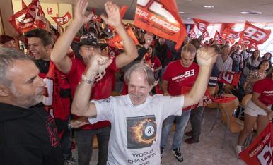 Celebració a Cervera del 8è títol de Marc Màrquez