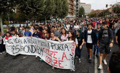 IMATGES | Manifestacions a Lleida contra la sentència del 'Procés'